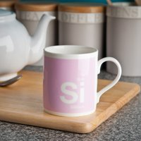 Silicon - The Surgically Enhanced Element - Bone China Mug - Cutlery Gifts