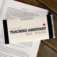 Personalised Chocolate Bar - Best Teaching Assistant - Teaching Gifts