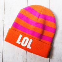 'LOL' Knitted Hat - Knitted Gifts