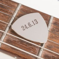Engraved Guitar Plectrum - Date - Music Gifts