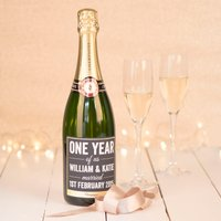 Luxury Personalised Champagne - One Year Of Us