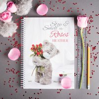 Personalised Notebook - Tatty Teddy - Smell The Roses - Roses Gifts