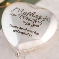 Engraved Heart Compact Mirror - Mother Of The Bride