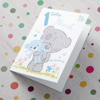 Personalised Me To You Card - Blue 1 Today - Me To You Gifts