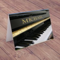 Personalised Card - Grand Piano - Music Gifts