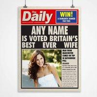 Personalised Spoof Newspaper Print - Best Wife - Newspaper Gifts