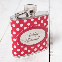 Personalised Red Polka Dot Hip Flask - Polka Dot Gifts
