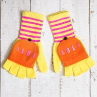 'LOL' Knitted Gloves - Knitted Gifts