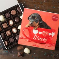 Image of Personalised Belgian Chocolates - Pup In A Cup