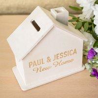 Personalised House-Shaped Money Box - Money Box Gifts