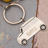 Personalised Silver Car Keyring - Driving Gifts