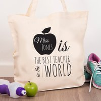 Personalised Tote Bag - World's Best Teacher - Teacher Gifts