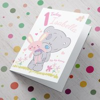 Personalised Me To You Card - Pink 1 Today - Me To You Gifts