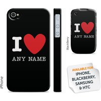 Personalised 'I Heart' Phone Cover - Black - Phone Gifts