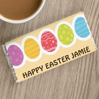 Personalised Chocolate Bar - Multicoloured Easter Eggs