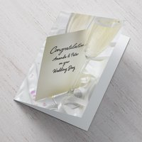 Personalised Card - Wedding Champagne