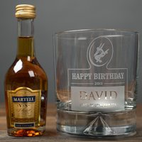 Personalised Birthday Tumbler and Brandy Miniature