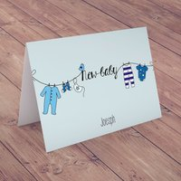 Personalised Card - New Baby Boy - Baby Boy Gifts