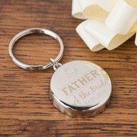 Personalised Bottle Top Keyring With Bottle Opener - Father Of The Bride