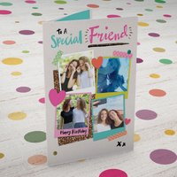 Multi Photo Upload Birthday Card - To A Special Friend - Friend Gifts