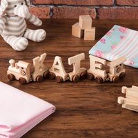 Personalised Wooden Name Train - Train Gifts