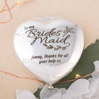 Engraved Heart Compact Mirror - Bridesmaid - Bridesmaid Gifts