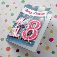 Personalised Me To You Card - 18th Birthday Banner - 18th Birthday Gifts