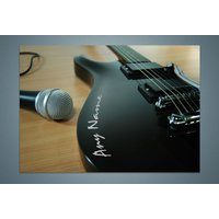 Personalised Guitar Print - Music Gifts