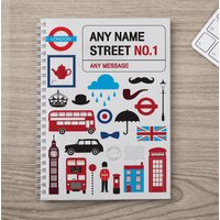 Image of Personalised Notebook - Iconic London