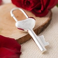 Engraved Heart Key Ring - Key To My Heart - Key Ring Gifts
