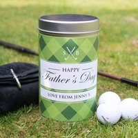 Golf Gift Set In Personalised Tin - Happy Father