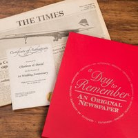 Original Newspaper from 2016 (1st Wedding Anniversary) - Wedding Anniversary Gifts