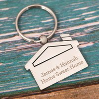 Personalised House Key Ring - Any Message - Key Gifts