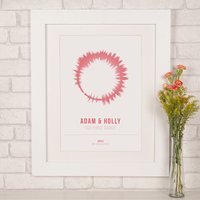 Personalised Soundwave First Dance Print - Dance Gifts