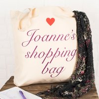 Personalised Tote Bag - Shopping Bag, Heart - Shopping Gifts