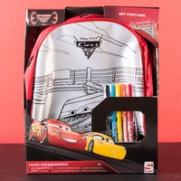 Cars 3 Colour Your Own Backpack - Colour Gifts
