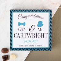 Personalised Belgian Chocolates - Mr & Mr, Congratulations - Chocolates Gifts