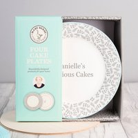 Personalised Mary Berry Set Of Four Cake Plates - Getting Personal Gifts