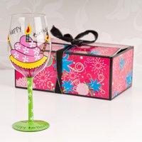 Happy Birthday - Tallulah Chic Wine Glass - Wine Glass Gifts