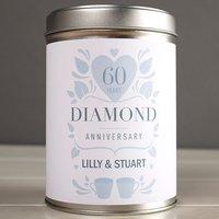 Personalised Tea Tin - Diamond Anniversary - Diamond Gifts