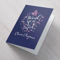 Personalised Card - Thank You Teacher - Butterflies - Butterflies Gifts