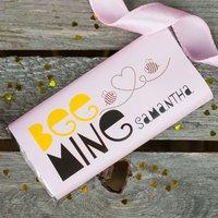 Personalised Chocolate Bar - Bee Mine - Bee Gifts