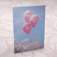 Personalised Mother's Day Card - Pink Balloons - Balloons Gifts