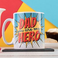 Personalised Mug - Dad, My Hero - Cutlery Gifts