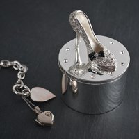 Stiletto Shoe - Diamanté Silver Trinket Box