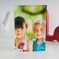 Personalised Acrylic Photo Keepsake - Flower Design - Keepsake Gifts