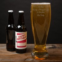 Engraved Giant Beer Glass - Beer Glass Gifts