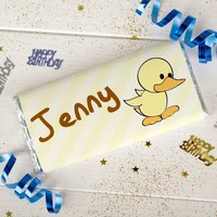Personalised Chocolate Bar - Little Duck - Duck Gifts