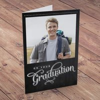Photo Upload Card - On Your Graduation - Black - Graduation Gifts