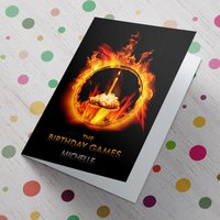 Personalised Card - The Birthday Games - Games Gifts